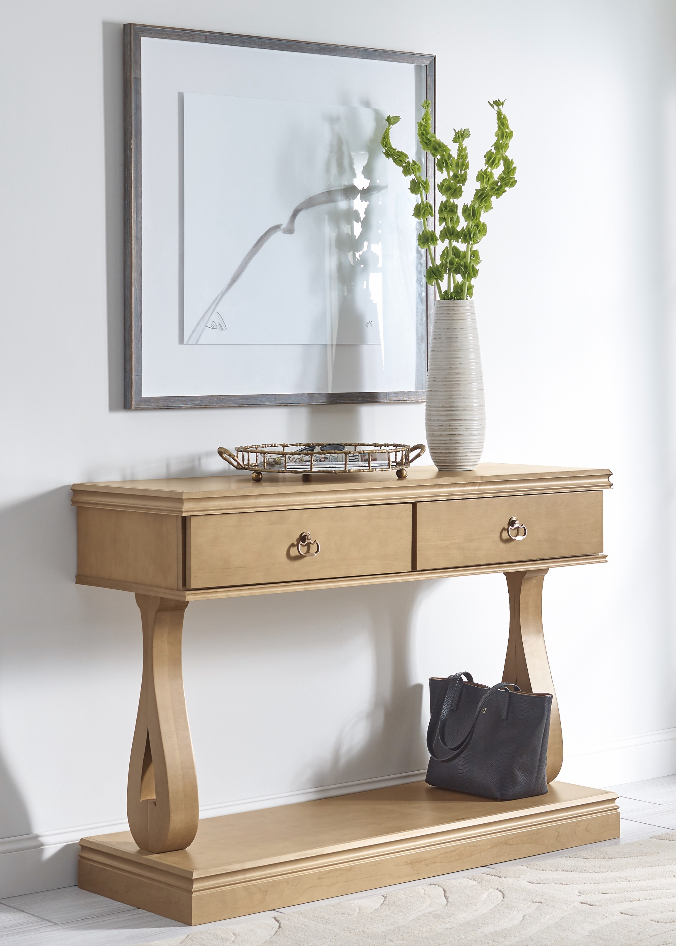 Traditional Transitional Entry Foyer Table