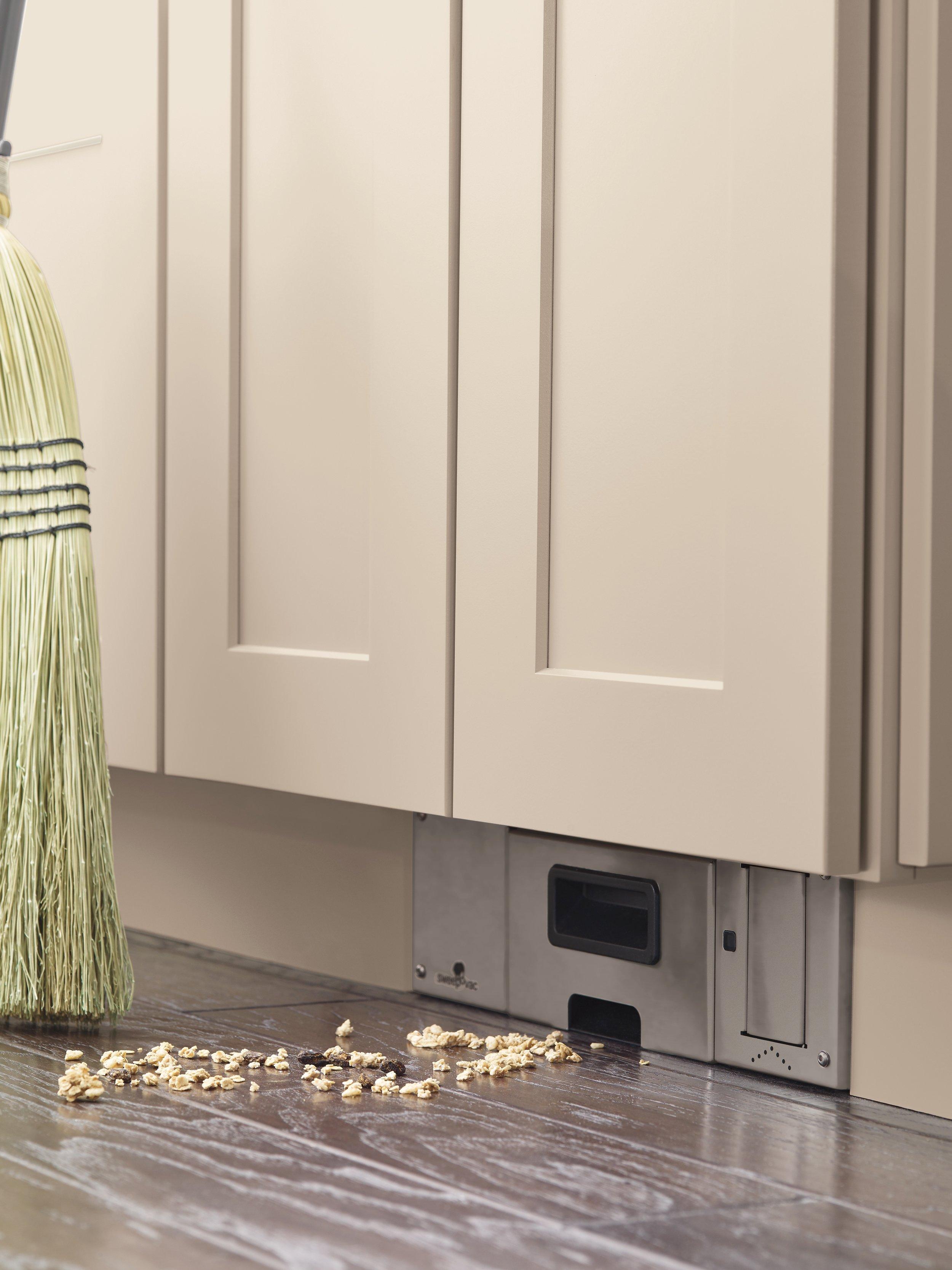 Nicole Janes Design Diamond Cabinets Off White Kitchen Toe Kick Vacuum