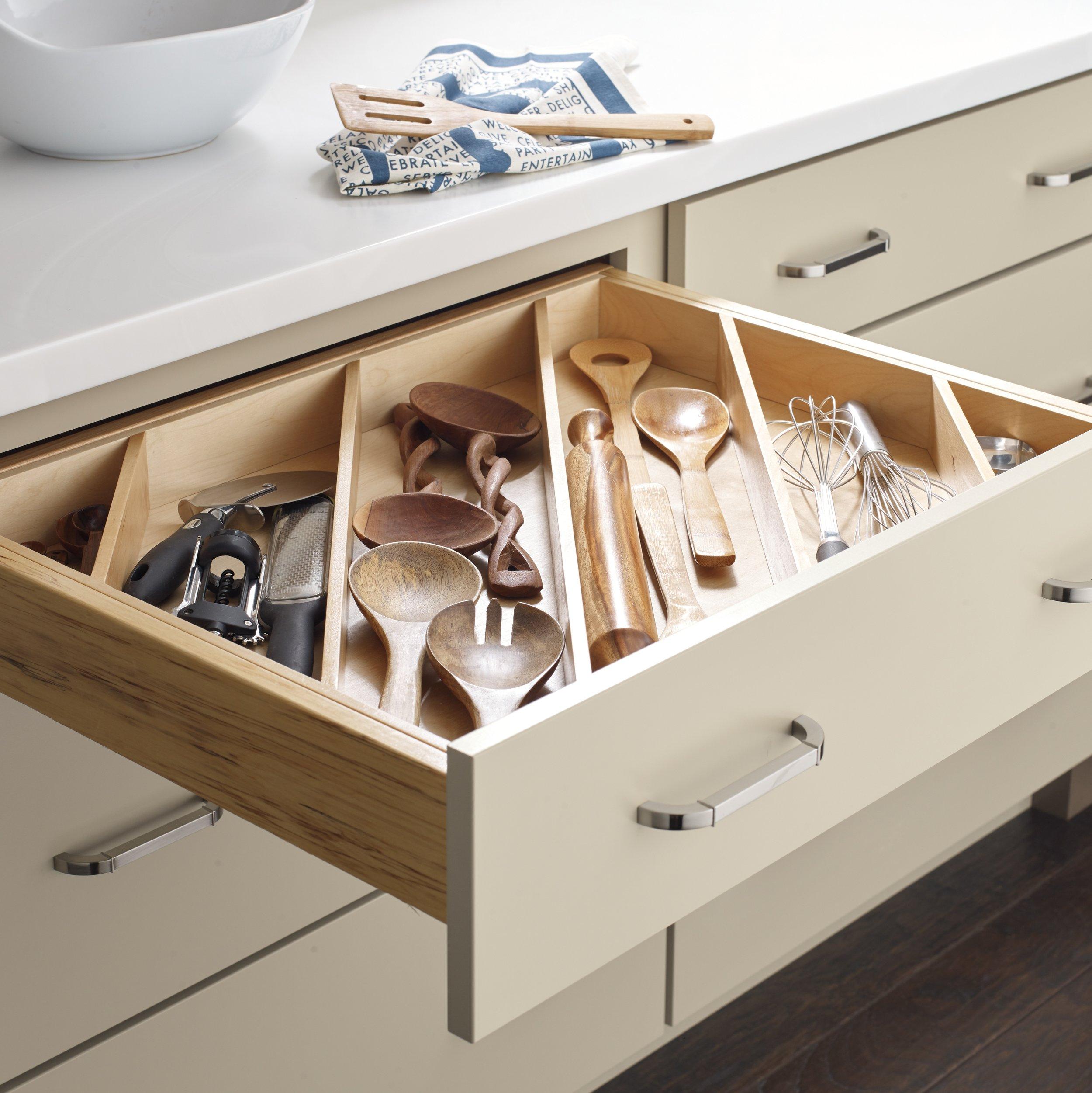 Diagonal Utensil Organizer  Source -  Masterbrand Cabinetry