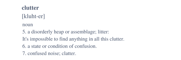 Clutter Definition
