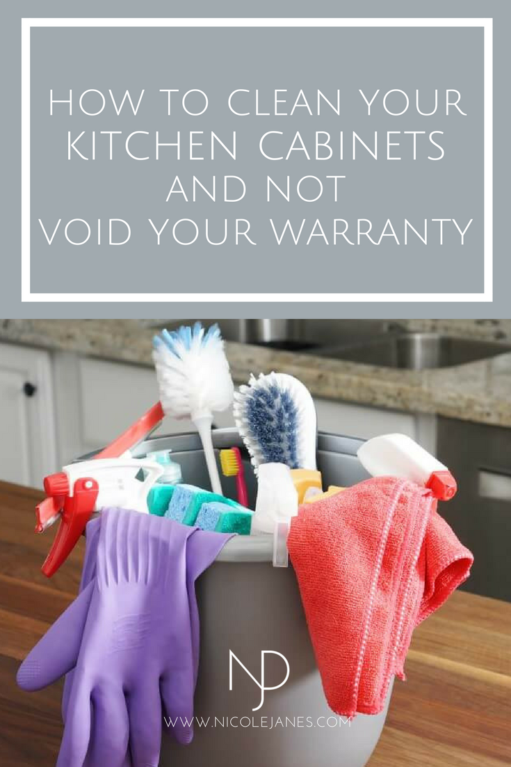 Nicole Janes Design How To Clean Your Kitchen Cabinets