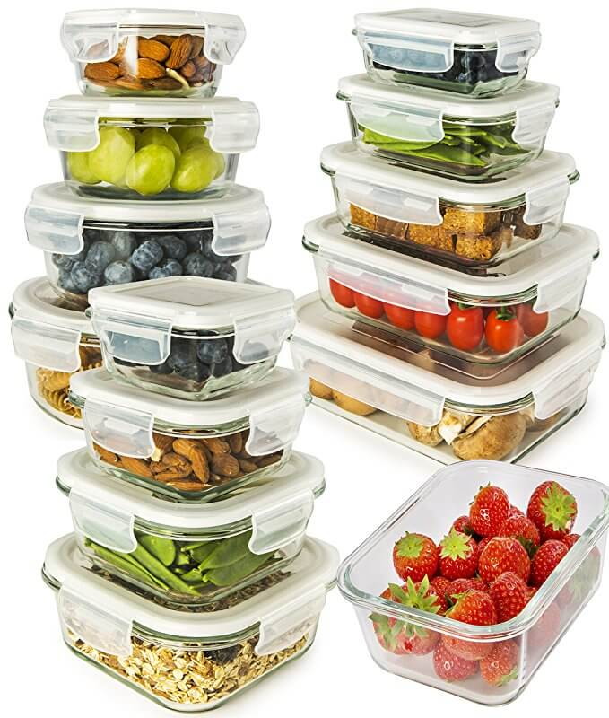 13-Pack Glass Storage Containers with Lids