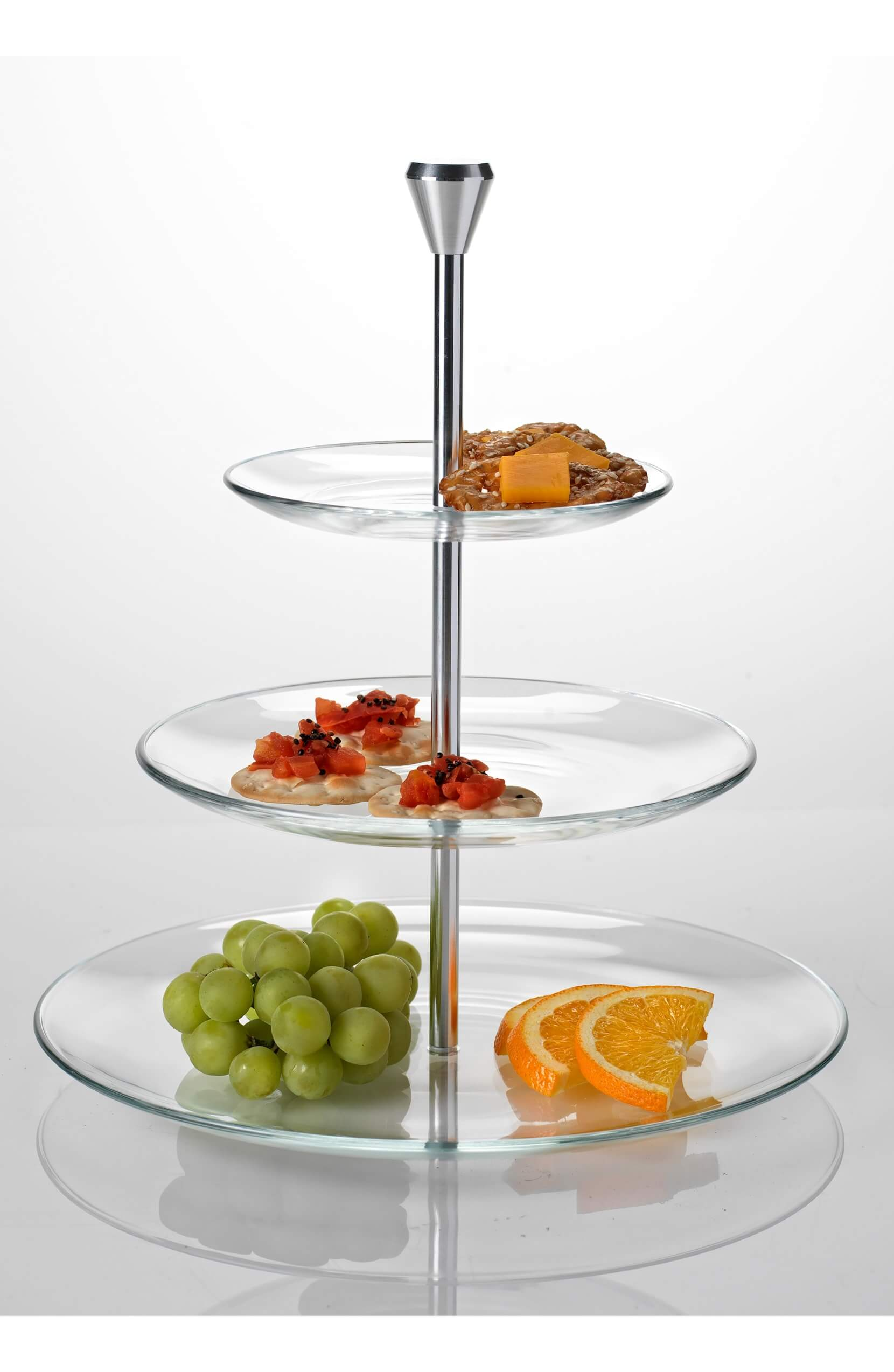 LUIGI BORMIOLI Michelangelo Three-Tier Serving Tray