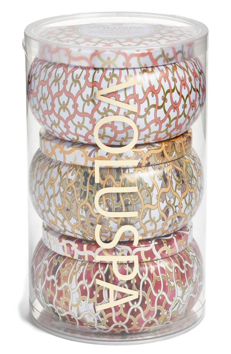 Voluspa Maison Blanc Two-Wick Tin Candle Set