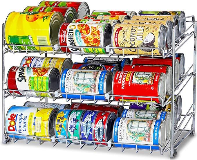 Stackable Can Rack Organizer, Chrome