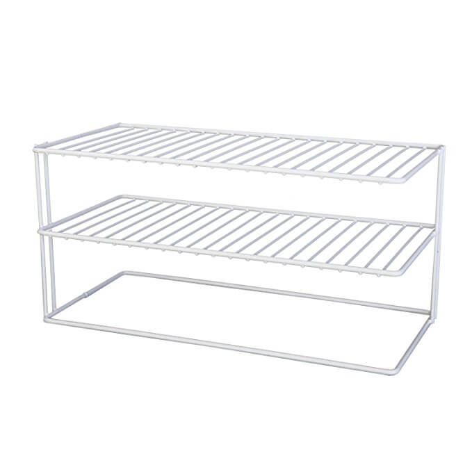 Grayline Panacea 40126, Large Two Shelf Organizer, White