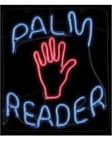 """23"""" Halloween Palm Reader Glow Light Sign"""