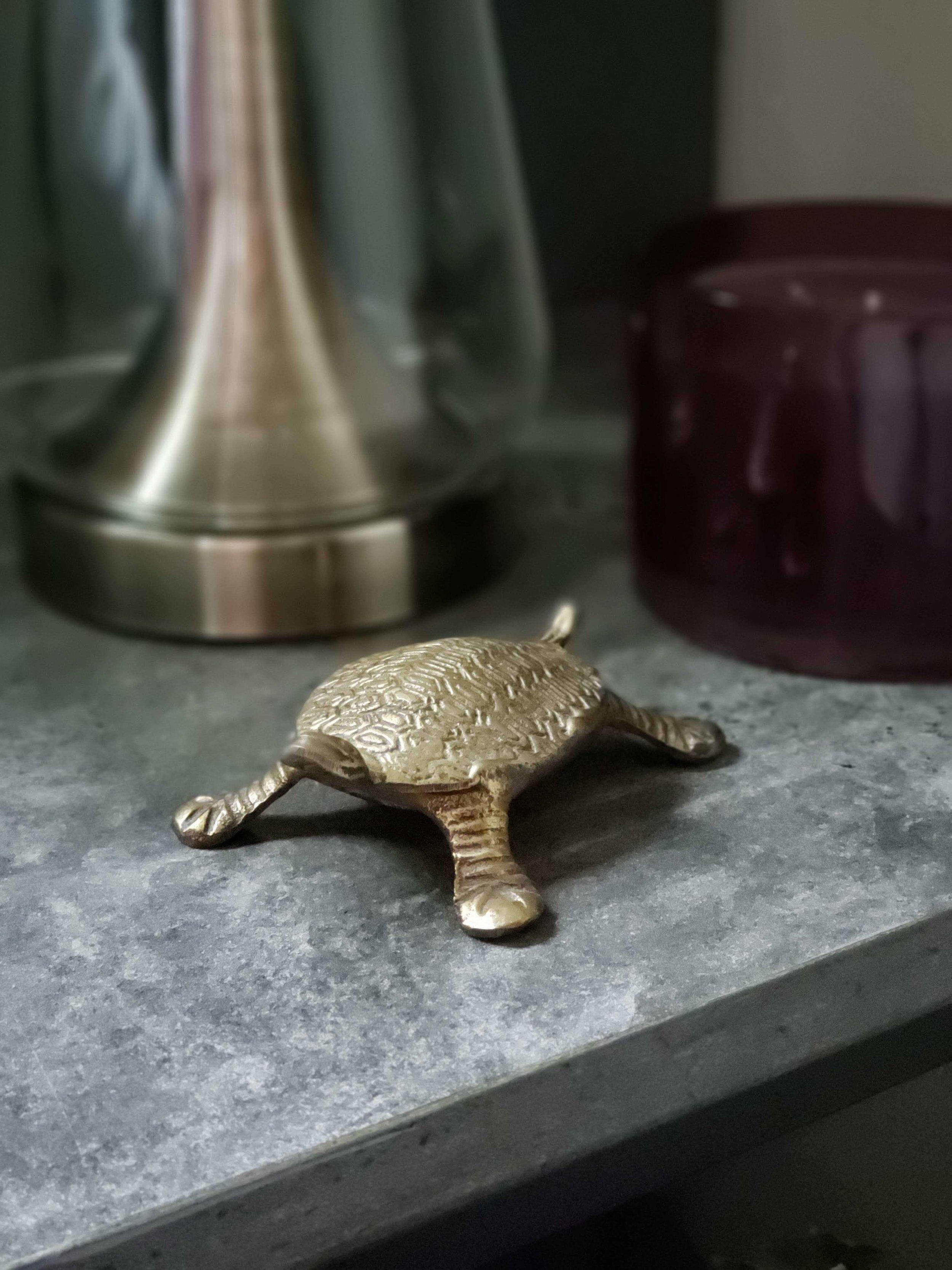 Boho Bedroom Bed Black Metal Nightstand Brass Turtle Fall 2018 One Room Challenge.jpg