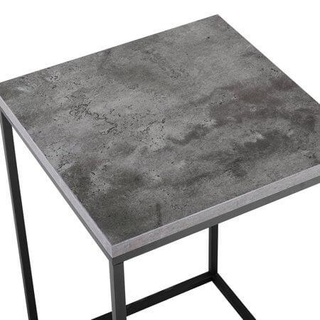 "Manor Park 16"" Modern Bohemian Urban Industrial Open Box Side Table - Dark Concrete"