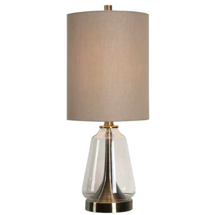 Berkshire 22 inch Table Lamp Antique Brass Glass