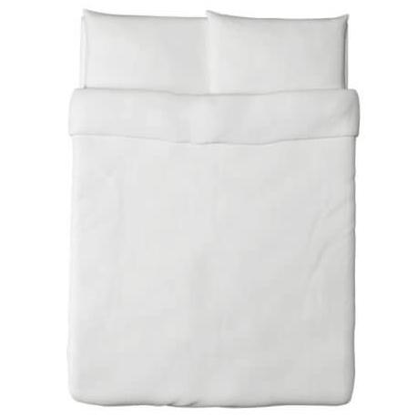 Ikea Dvala Duvet Cover and Pillowcase White