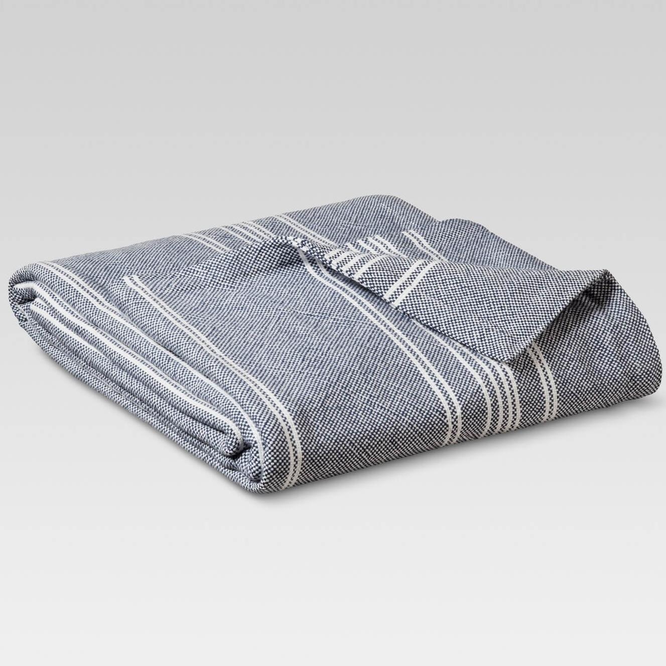 Target Threshold Yarn Dye Stripe Ringspun Cotton Blanket