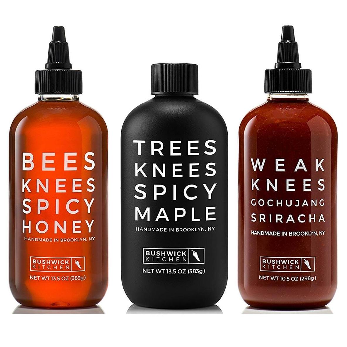 Bushwick Kitchen Threes Knees Spicy Trio Hot Sauce Gift Set