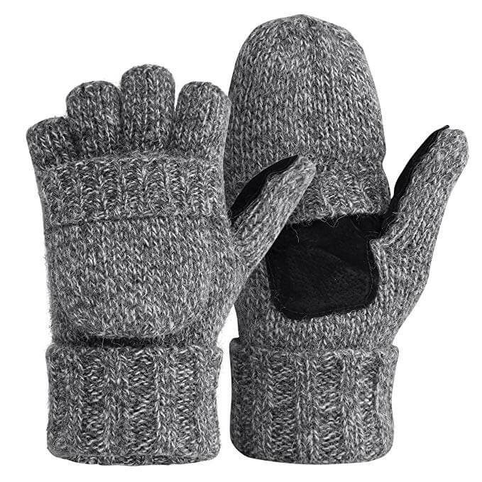 Thermal Insulation Fingerless Texting Gloves