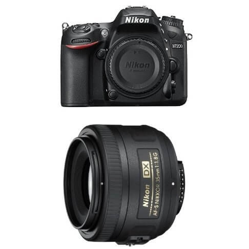 Nikon D7200 DSLR Camera Portrait and Prime Lens Kit
