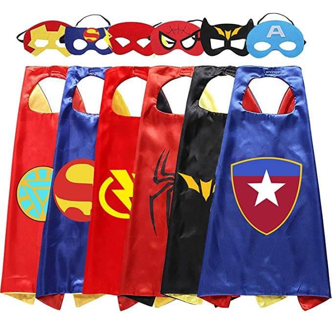 Easony Kids Fun Cartoon Superhero Capes and masks