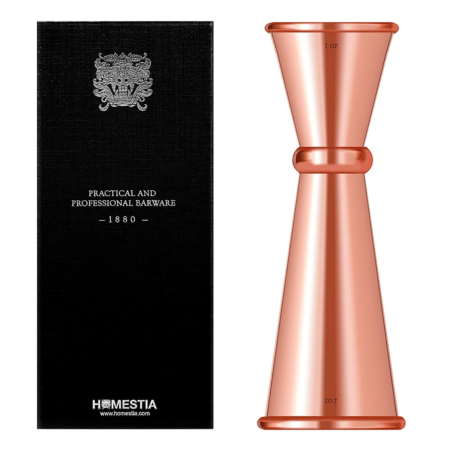 Japanese Copper Double Cocktail Jigger