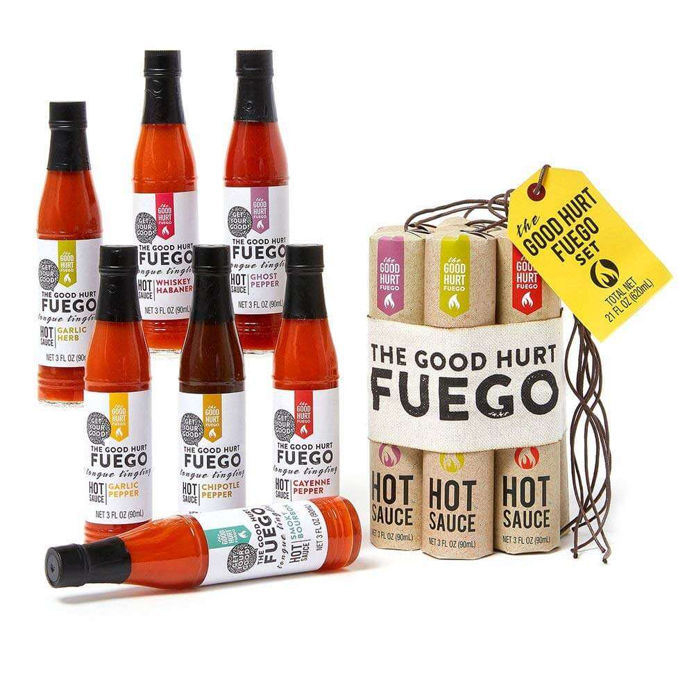 The Good Hurt Fuego: Sampler Pack of 7 Different Hot Sauces