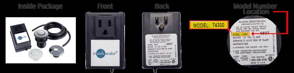 InSinkErator SinkTop Air Switch Model 74300