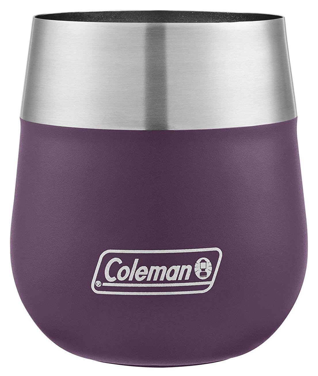 Coleman Claret Insulated Stainless Steel Wine Glass Violet