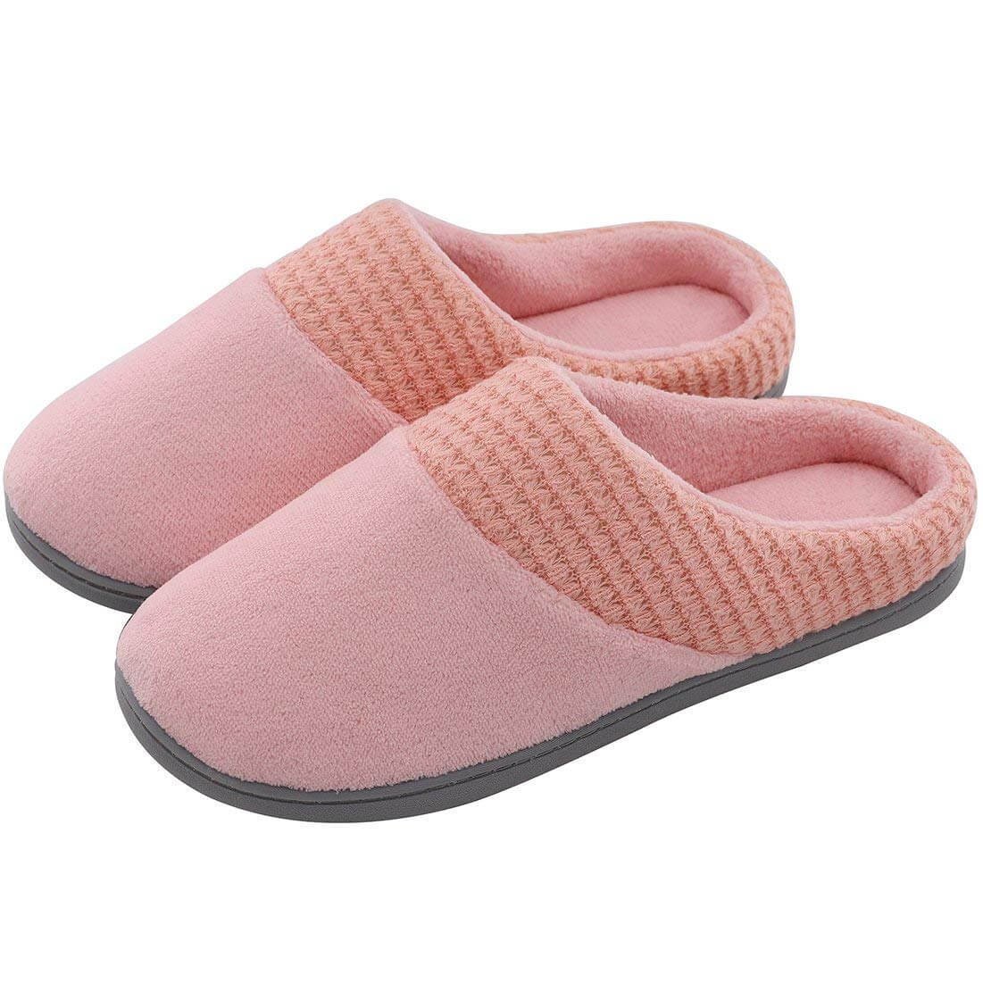 Womens Memory Foam Slippers Pink