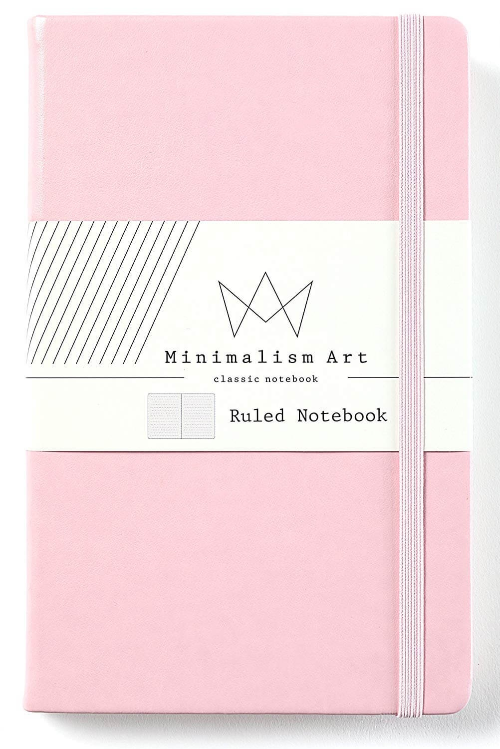 Minimalism Art Hardcover Pink Notebook