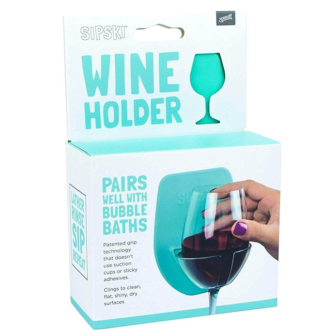 Silicone Wine Glass Holder for The Bath