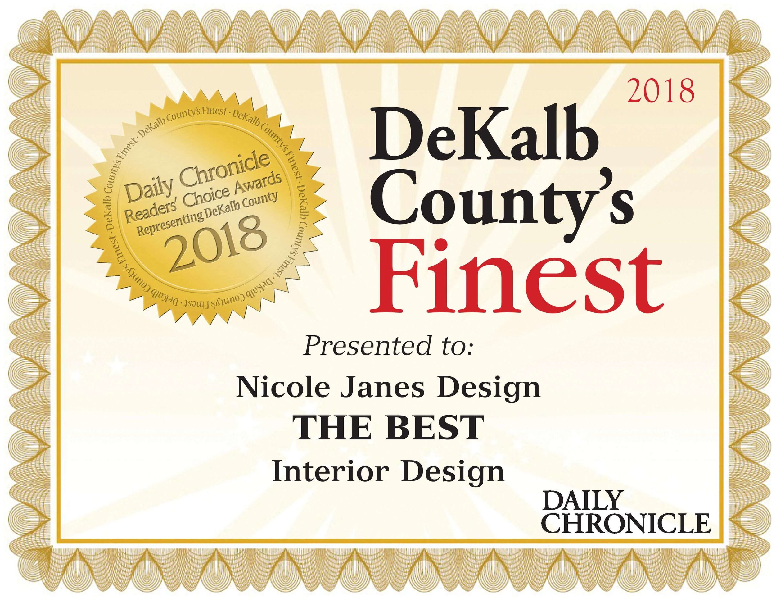 Nicole Janes Design 2018 Dekalb Countys Finest Interior Design Award.jpg
