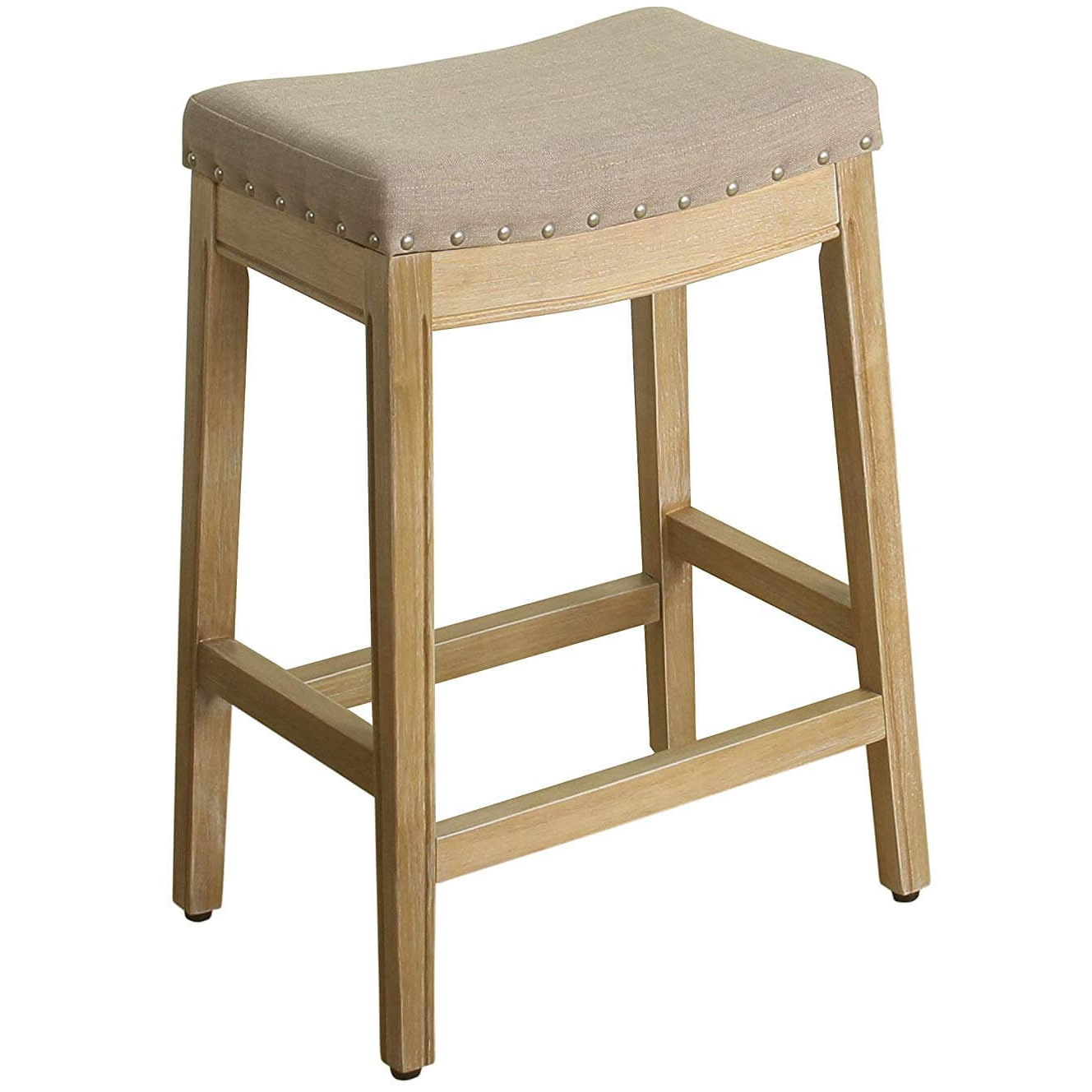 HomePop Blake Backless Counter Bar Stool