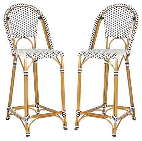 Set of 2 Zaid Stackable Bar Stools