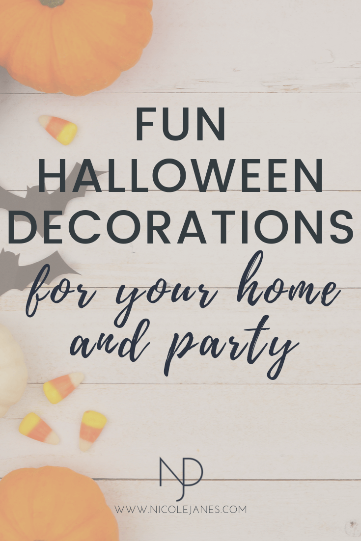 Fun Halloween Decorations for Home and Party Entertaining Decor.png