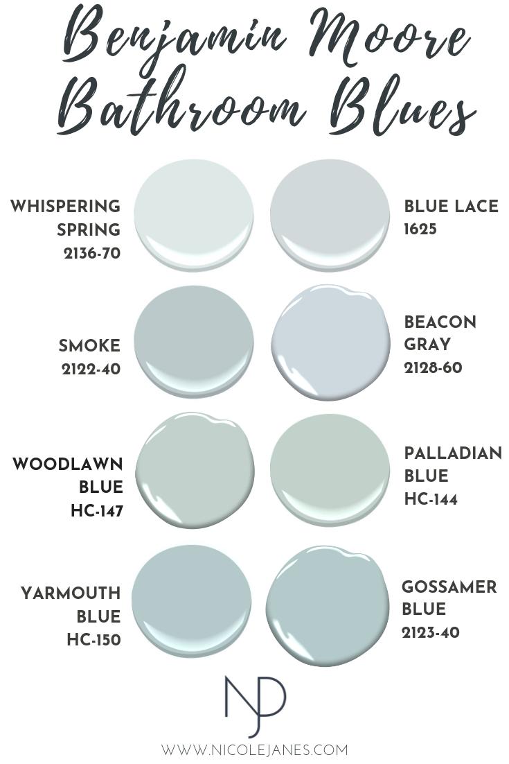 Benjamin Moore Best Bathroom Powder Room Blue Paint Color Nicole Janes Design.png