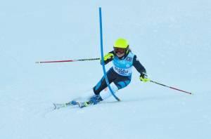 Slalom training at Coronet Photo cred: Anne Barwood