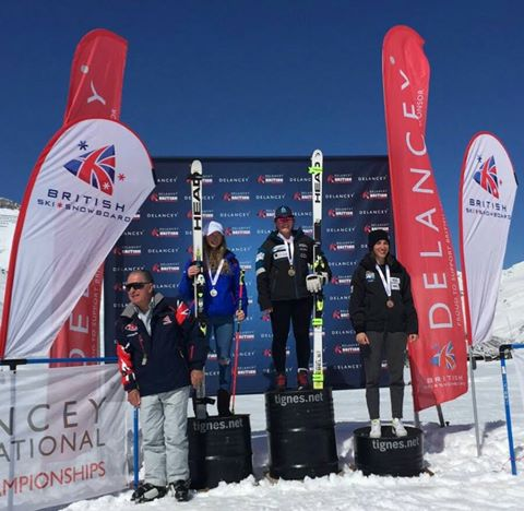 Super G: 1st U21 and 3rd overall - 2017 British National Championships