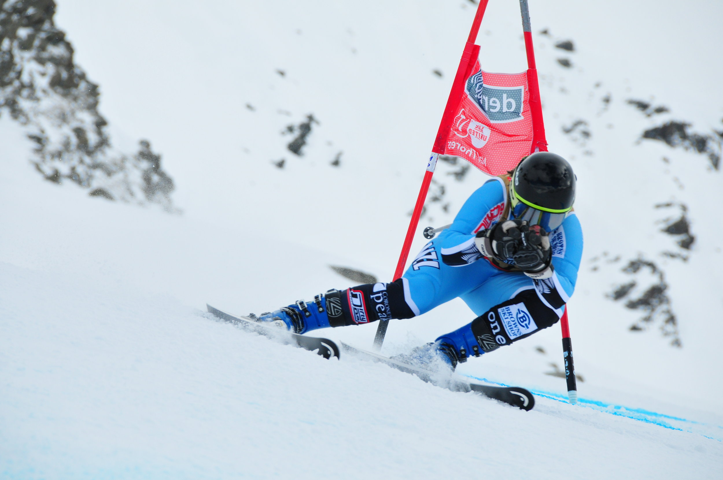Super G: 4th overall, PB of 58.34 - 2016 Mt Hutt ANC race, New Zealand