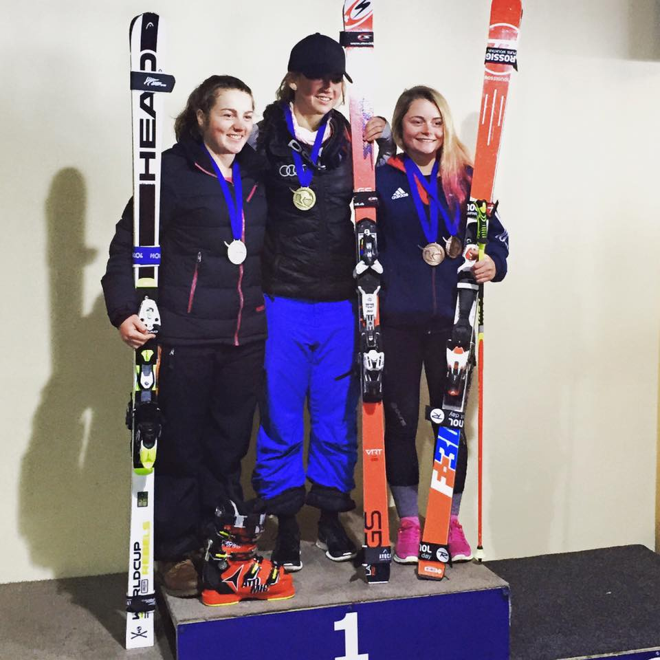 GS: 2nd place (open and U21), PB of 34.88 - 2015 Perisher ANC race, Australia
