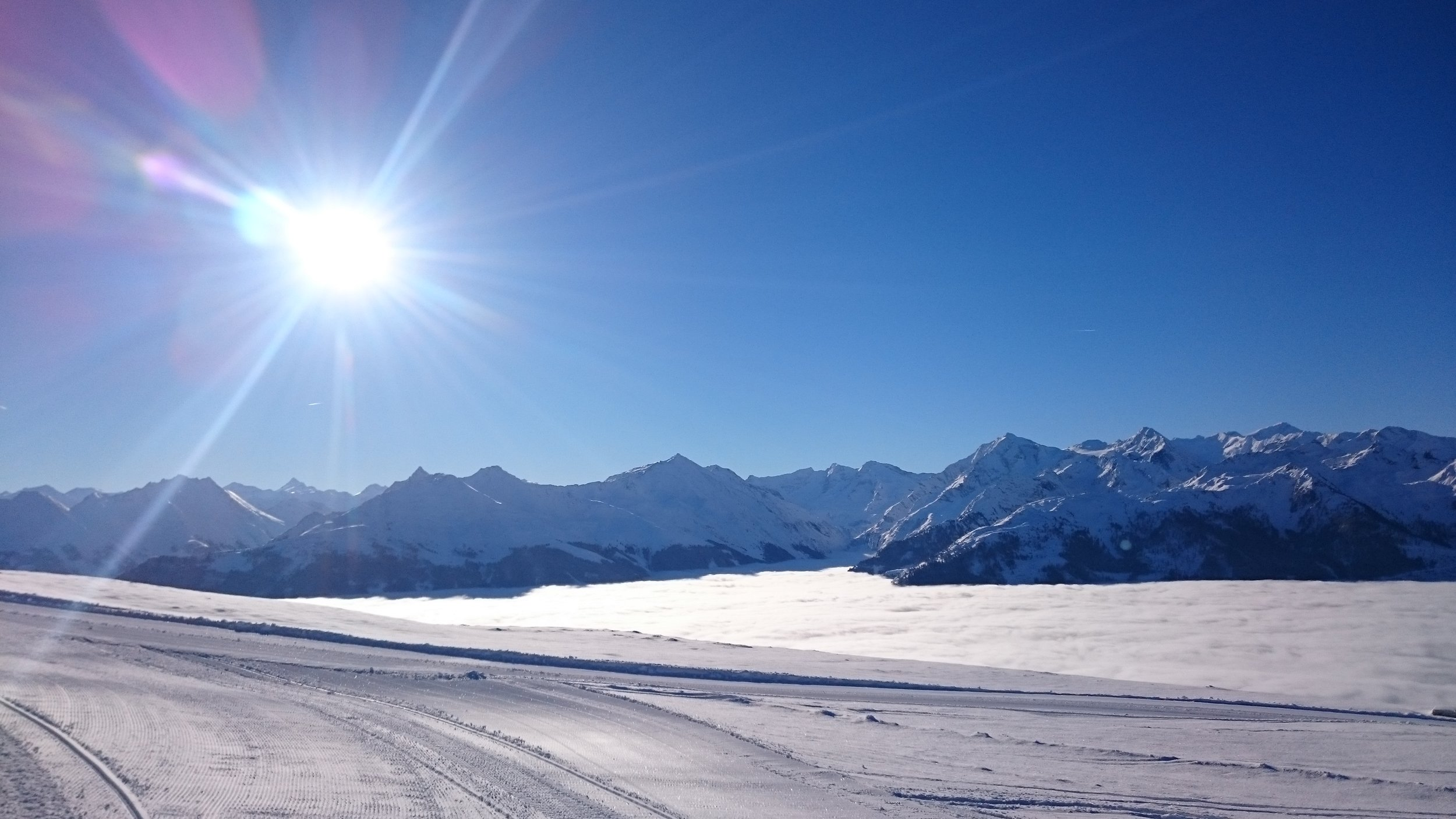 Above the clouds at Pass Thurn, Austria
