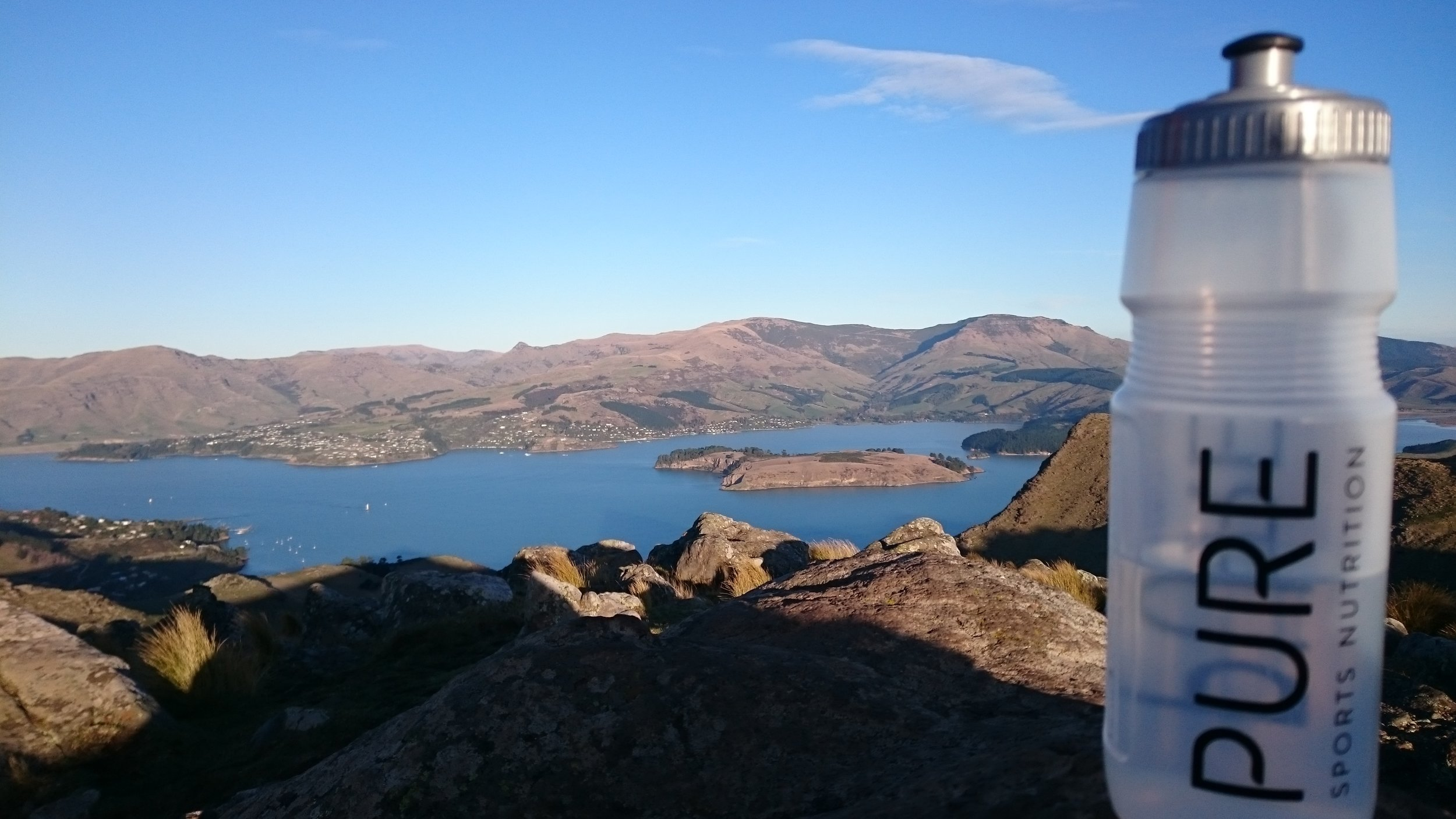 View into Lyttleton Harbour from the Port Hills, NZ