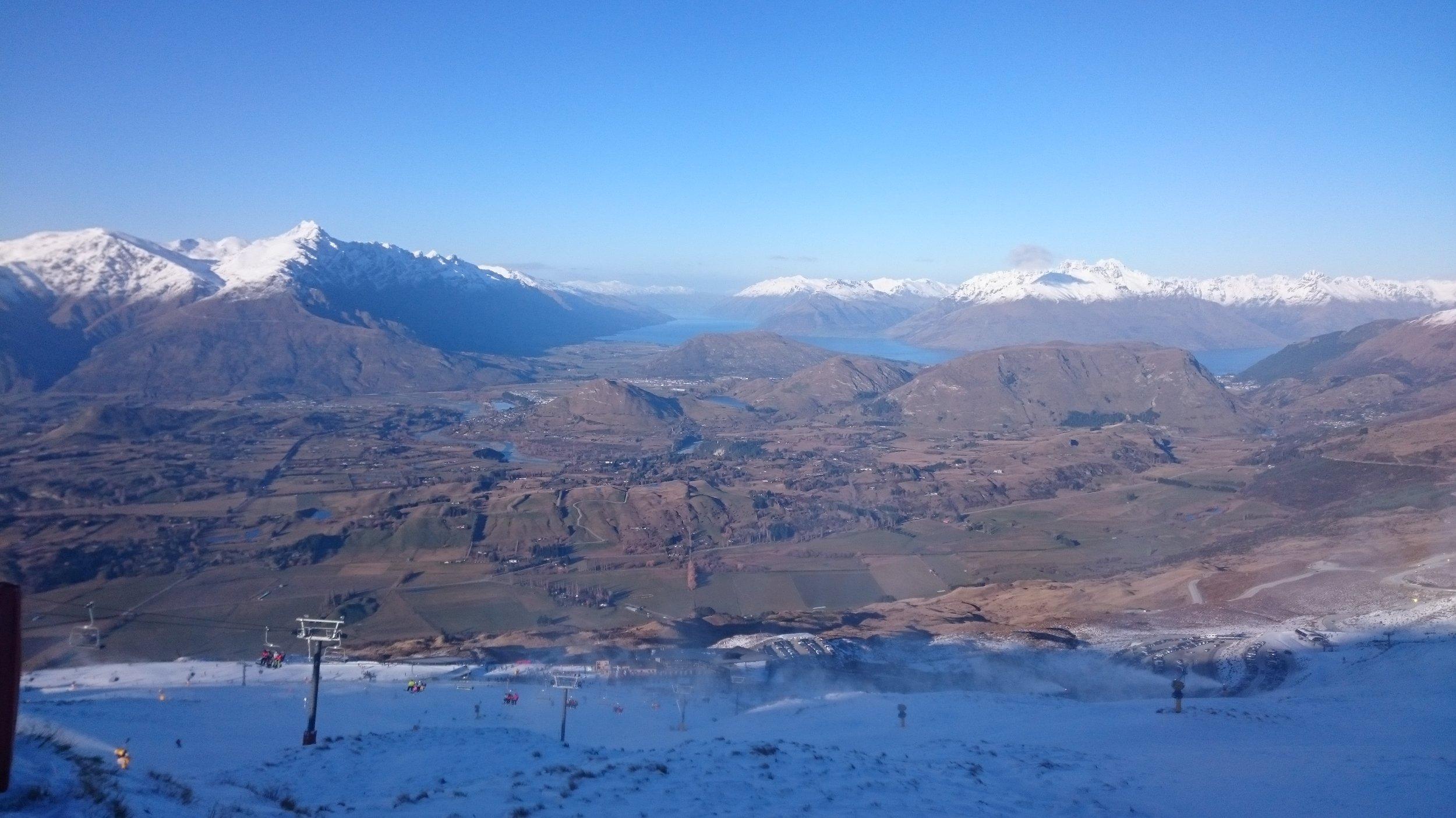 View across Wakatipu Basin from Coronet Peak, NZ