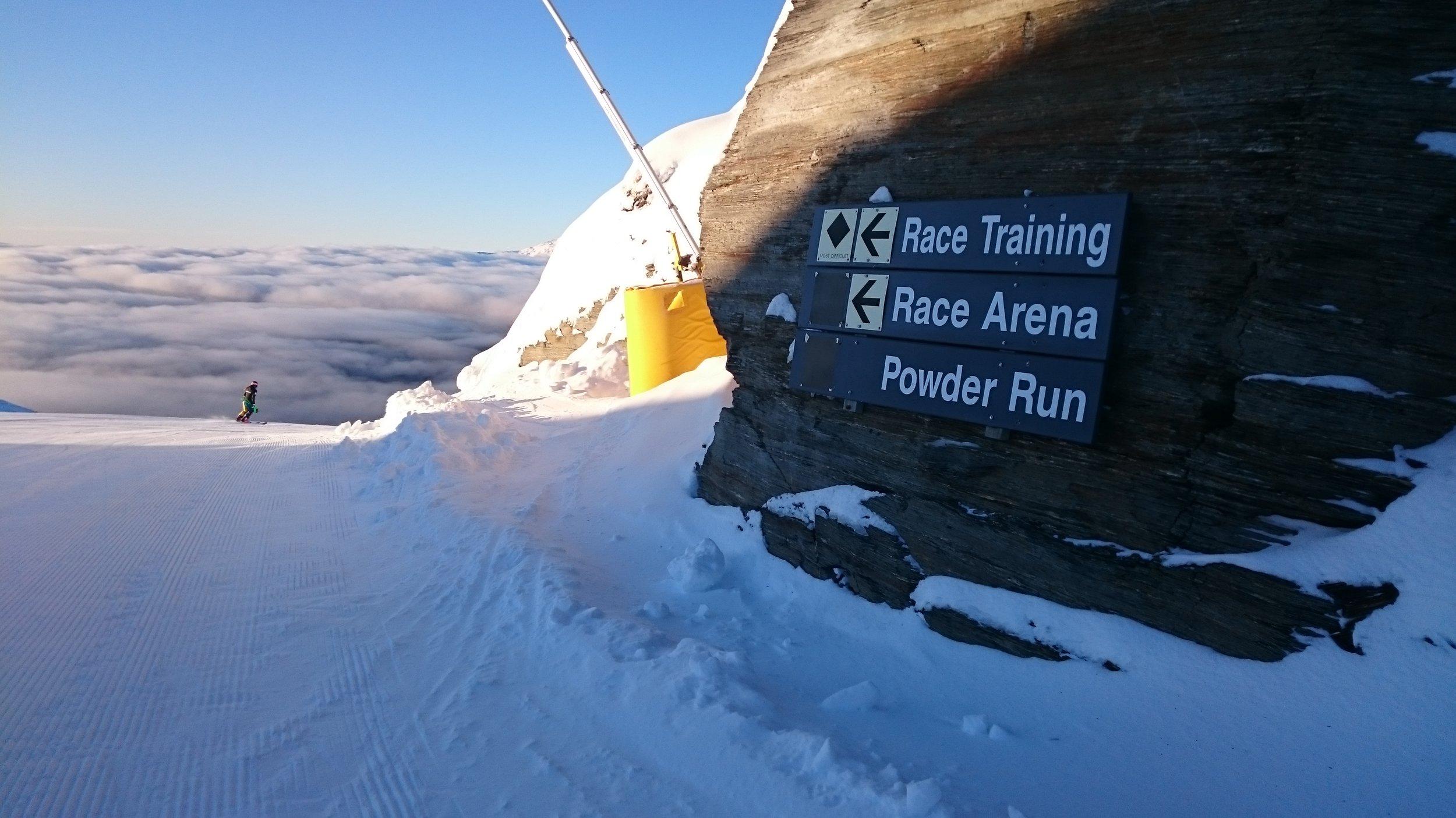 this way please -> Coronet Peak