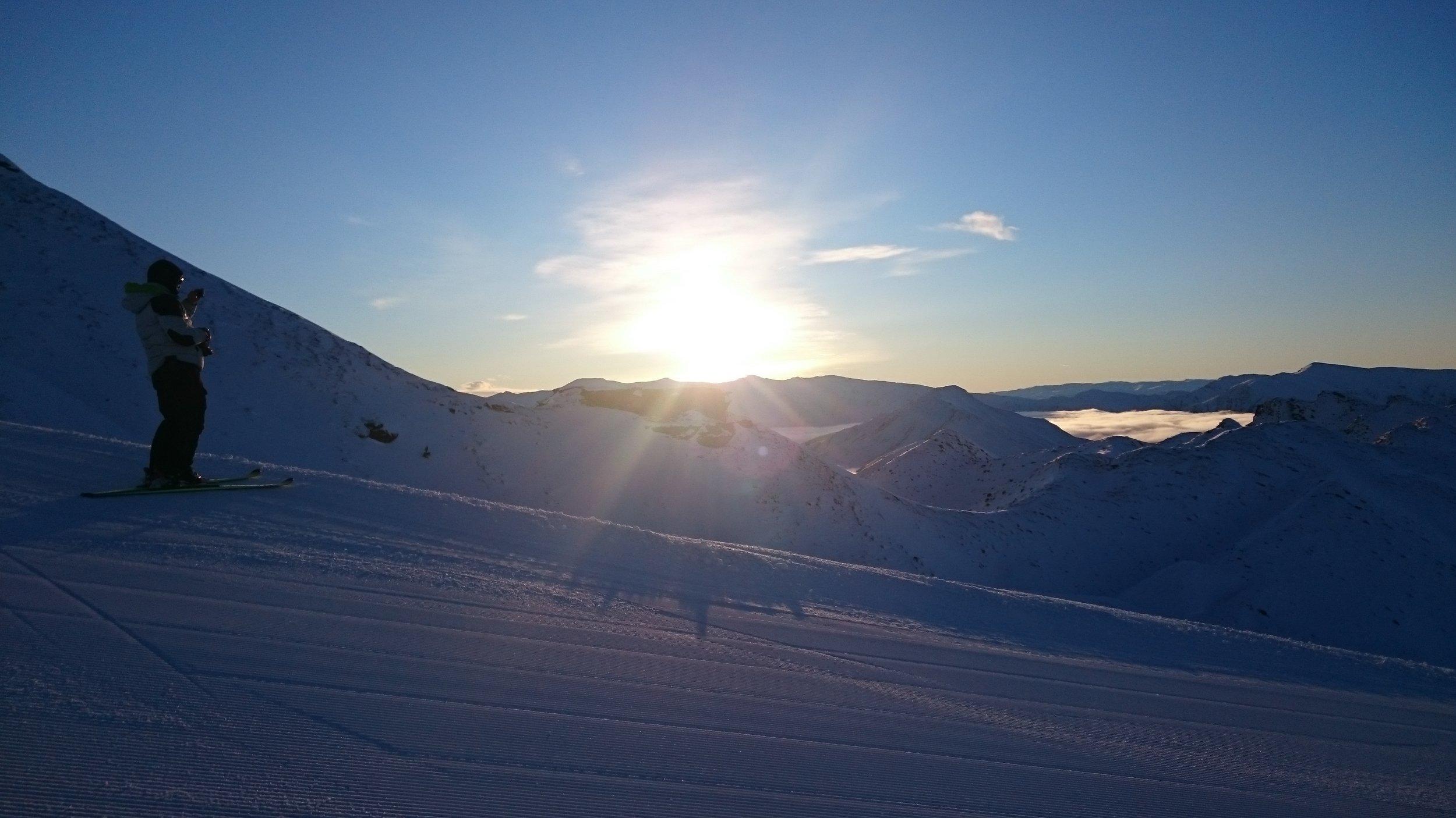 Sunrise at Coronet Peak