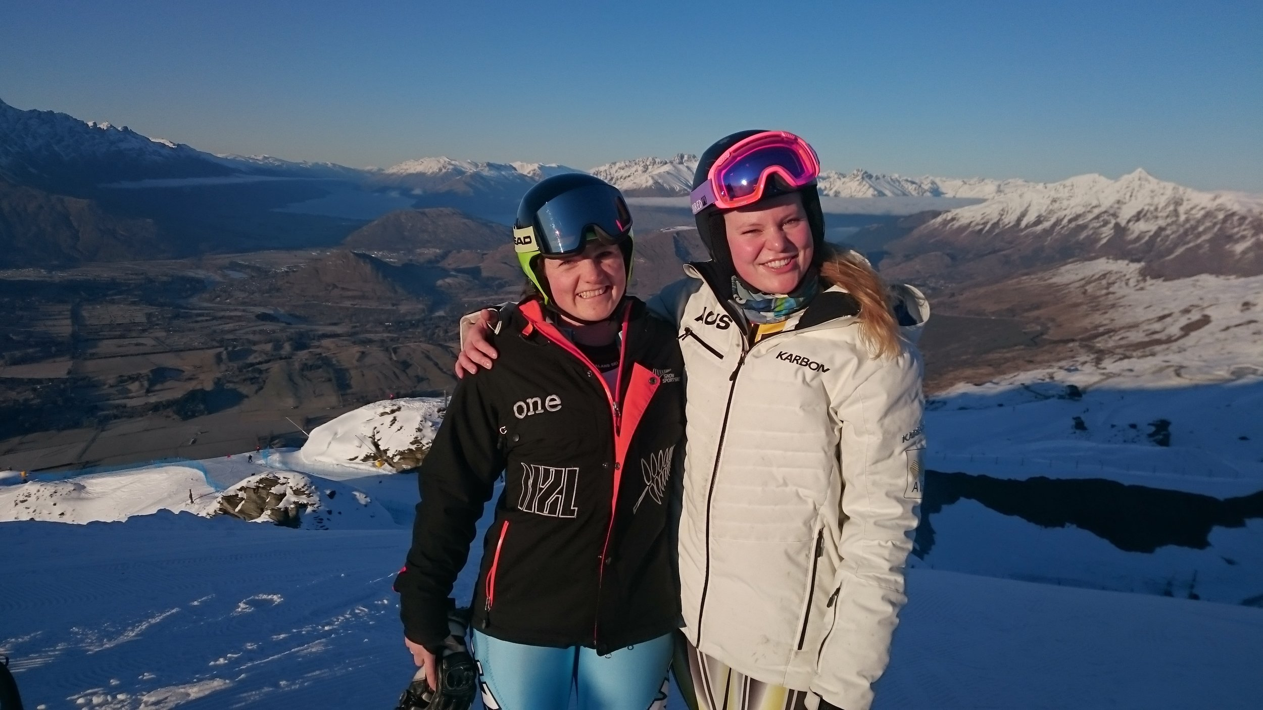 With Aussie team member Greta Small