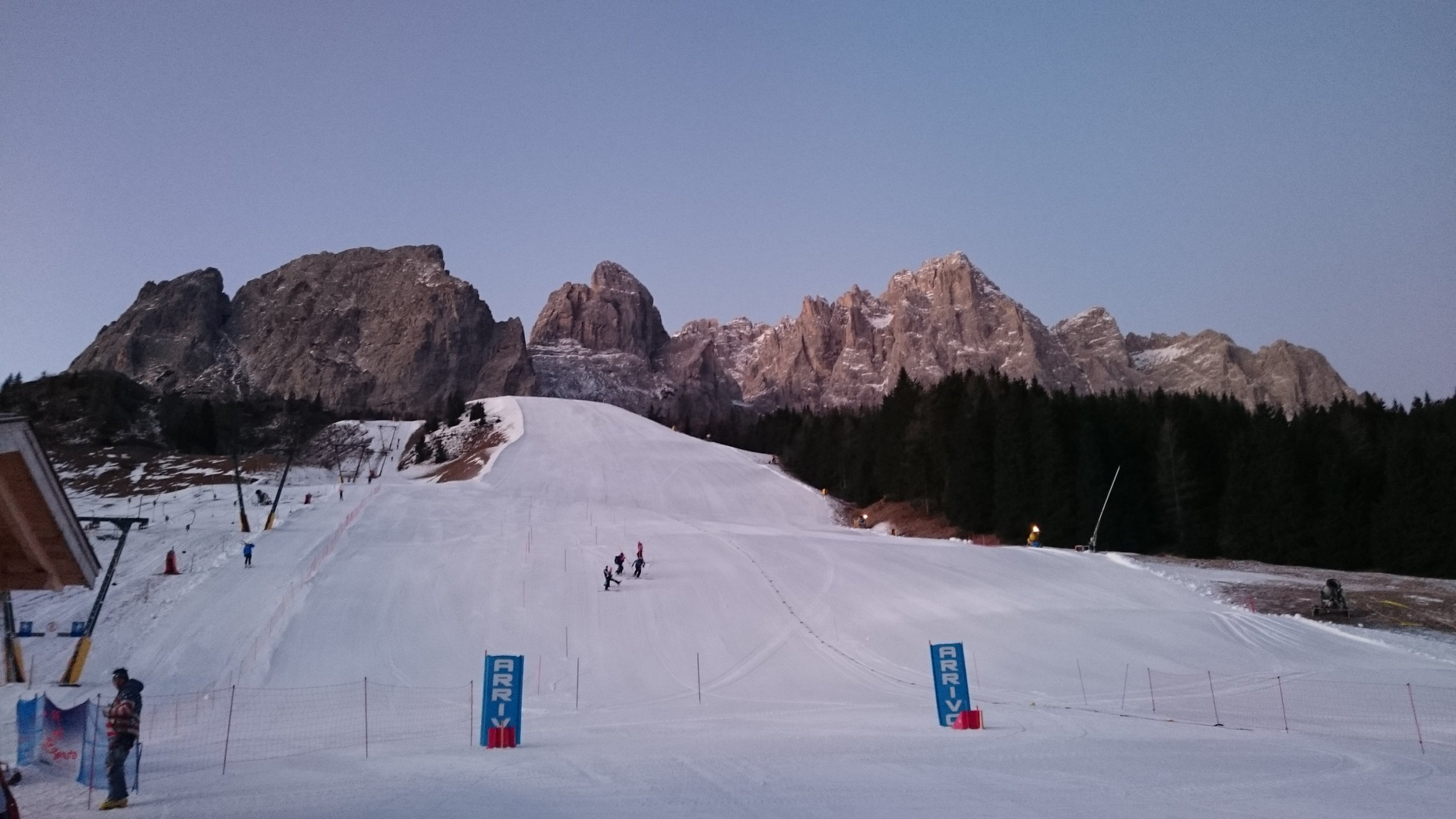 Racing with the view of the Dolomites in Italy