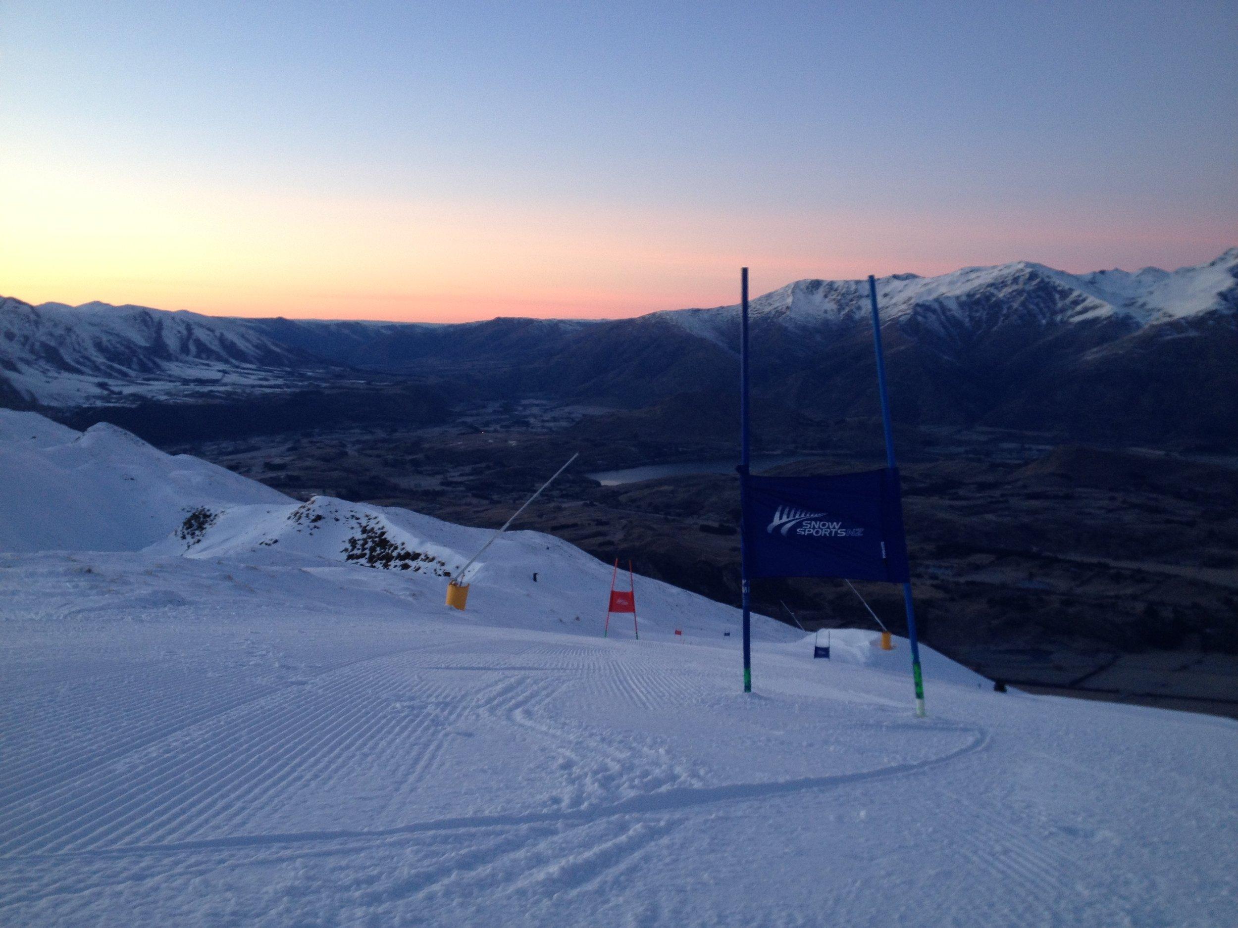 Early GS training at Coronet Peak