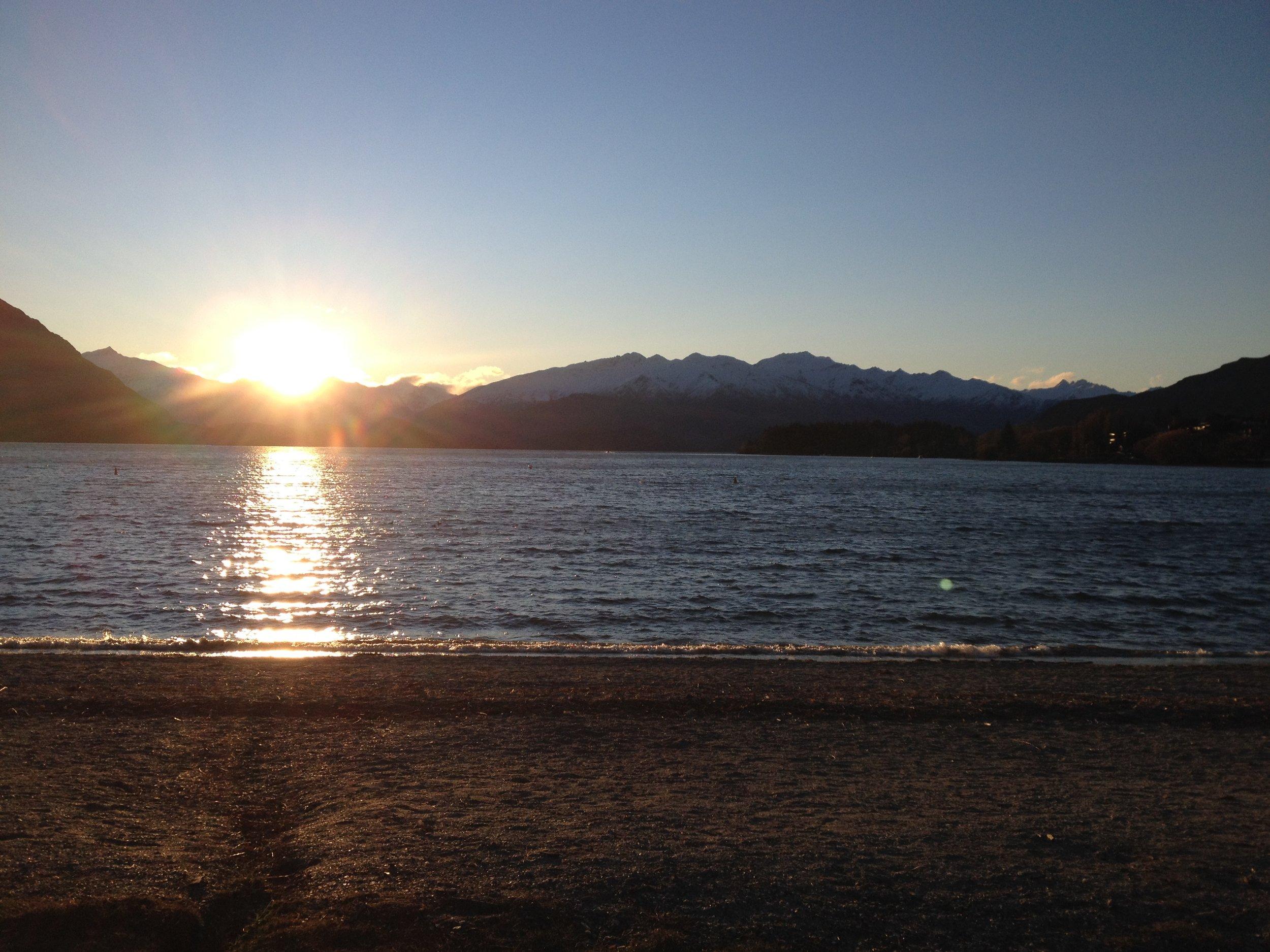 Sunset in Lake Wanaka