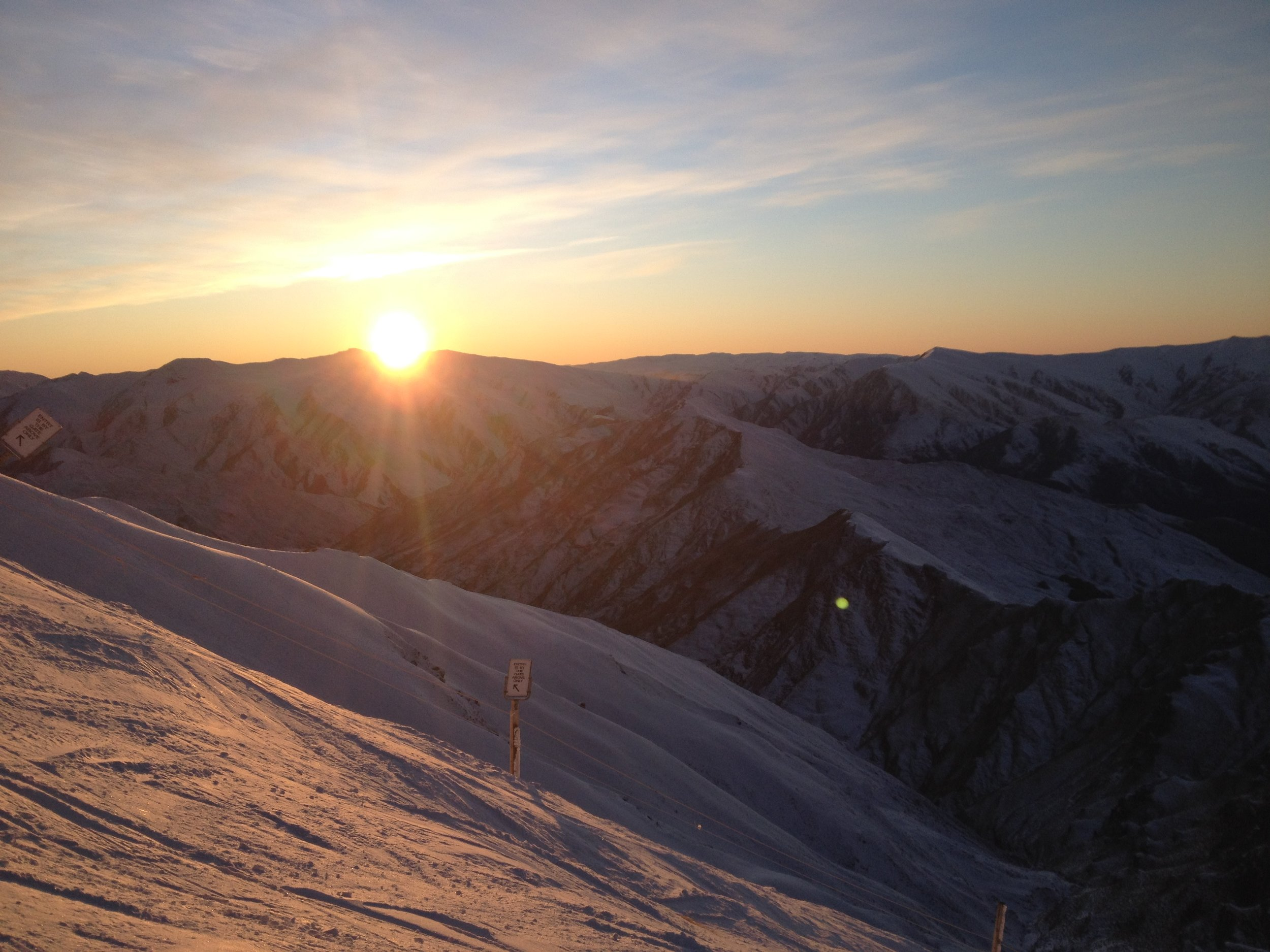 Coronet Peak Sunrise