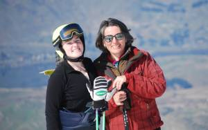 Mum and I at the Coronet Peak ANC GS photo cred: Julie Rich