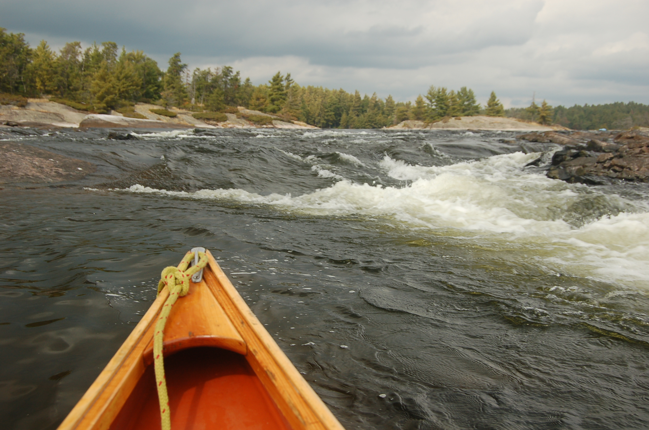 Rapids on the French River, Canada.JPG