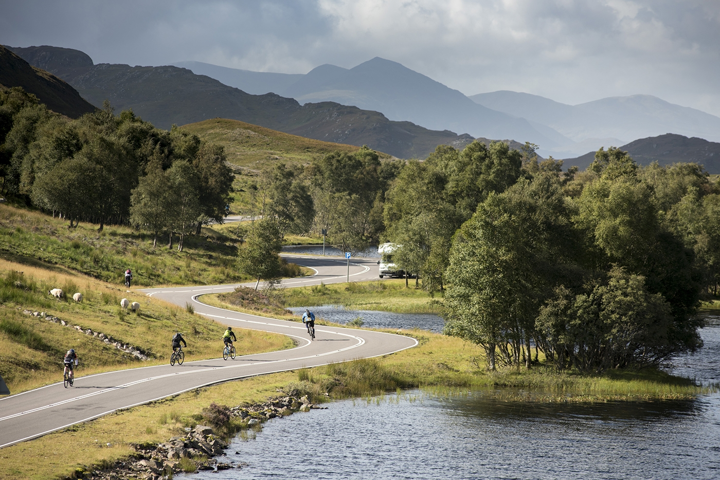 On the downhill into Fort Augustus , courtesy Rat Race Adventure Sports