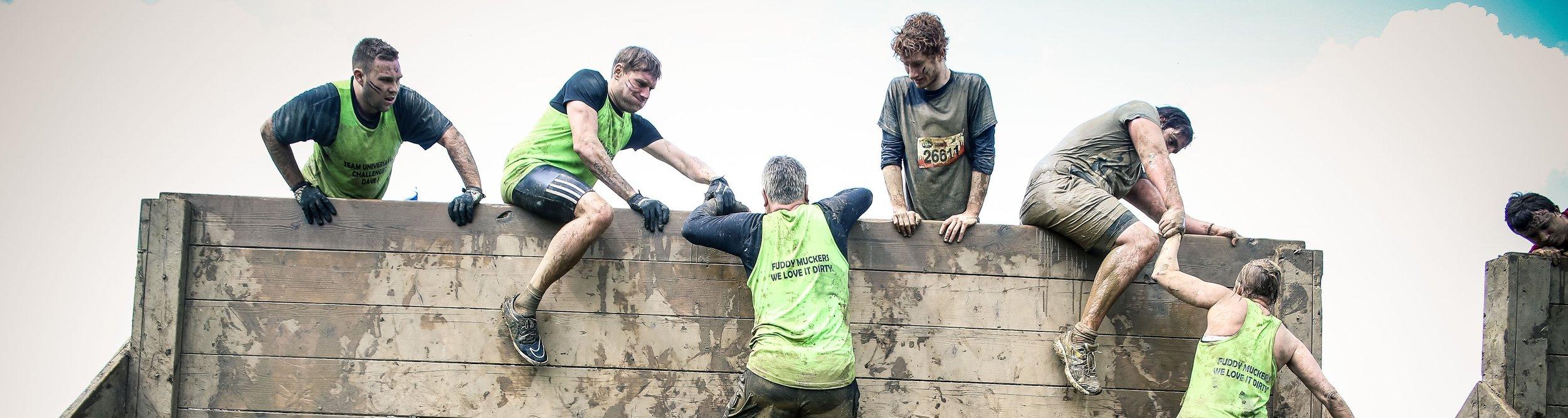 An obstacle at Tough Mudder